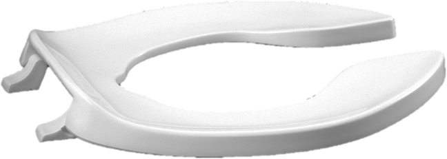 Elongated Toilet Seat - Open Front Less Cover, Extra Heavy Duty Solid Plastic