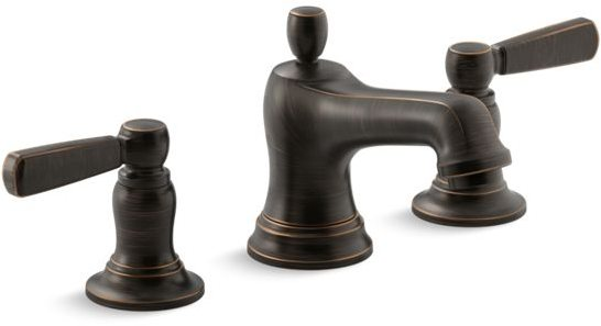 Bancroft Deck Mount Bathroom Sink Faucet, Oil Rubbed Bronze
