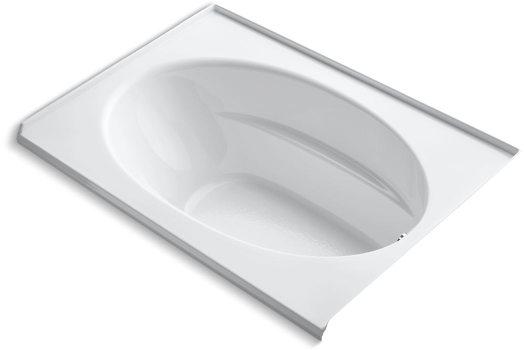 "60"" x 42"" x 22-1/4"", White, Acrylic, Alcove/Drop-In, Bathtub"