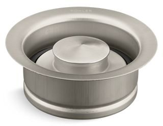 Garbage Disposal Flange Kit - With Stopper, Metal, Vibrant Brushed Nickel
