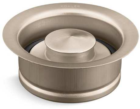 Garbage Disposal Flange Kit - With Stopper, Vibrant Brushed Bronze