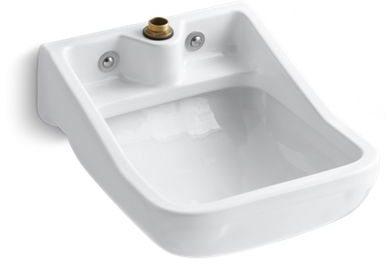 Camerton Wall Mount Service Sink, Vitreous China White
