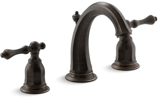 Kelston Deck Mount Bathroom Sink Faucet, Oil Rubbed Bronze