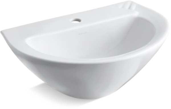 Parigi 20X14 Pedestal Sink Basin Center Hole White
