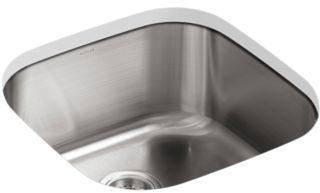"""Undertone Undermount Kitchen Sink, Stainless Steel 19-5/8"""" X 19-5/8"""" X 9-3/4"""""""