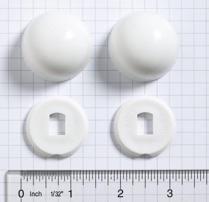 San Raphael Toilet Bolt Cap Kit, White