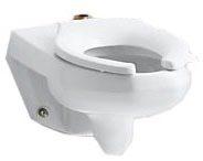 Wall Mount Elongated Toilet Bowl - Kingston, White, 1.6 Gpf