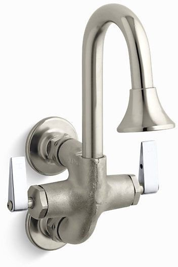 Cannock Wall Mount Service Sink Faucet, Rough Plate