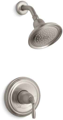 2 GPM Vibrant Brushed Nickel Single Handle 1-Function Wall Mount Shower Faucet Trim Set