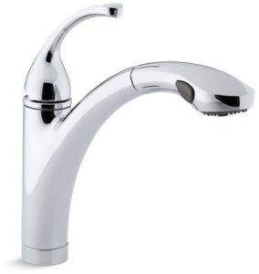 Forte Deck Mount Kitchen Faucet, Polished Chrome Single/Three Hole