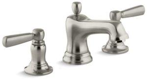 Bancroft Deck Mount Bathroom Sink Faucet, Vibrant Brushed Nickel