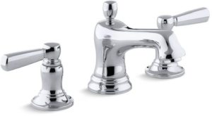 Bathroom Sink Faucet with Two Lever Handle - Bancroft, Polished Chrome, Deck Mount, 1.5 GPM