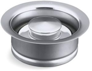 Garbage Disposal Flange Kit - With Stopper, Metal, Polished Chrome