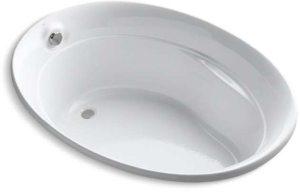 Serif 5' Oval Bath White