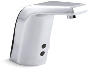 Electronic Faucet with Sculpted Spout & Infrared Sensor - Insight, Polished Chrome, Brass, Deck Mount, 0.5 GPM