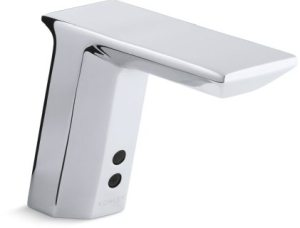Electronic Faucet with Geometric Spout & Infrared Sensor - Insight, Polished Chrome, Brass, Deck Mount, 0.5 GPM