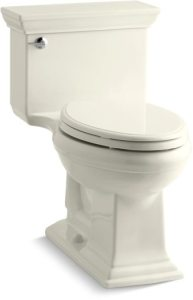 Memoirs Comfort Height Stately 1-Piece Toilet Elongated Bowl Biscuit