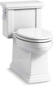 Tresham Comfort Height Gravity-Assisted Toilet Vitreous China 1.28 GPF White Left Hand Trip Lever