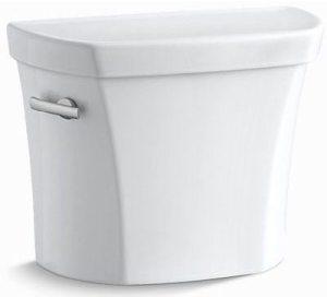 """8-1/2"""" x 18"""" x 13-15/16"""", 1.28 GPF, White, Vitreous China, Toilet Tank"""