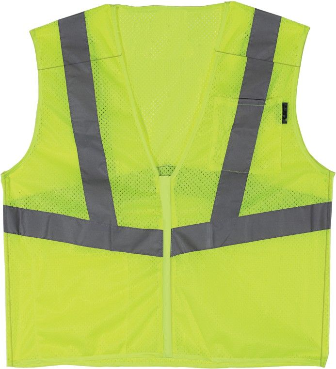 XXXX-Large, Yellow, Polyester, Breathable, Safety Vest