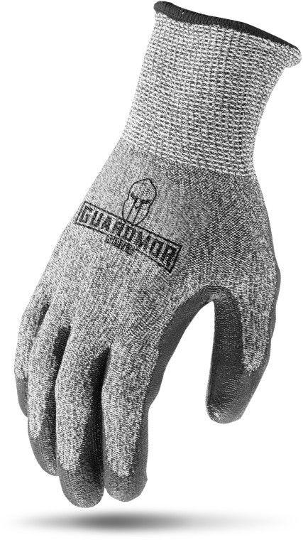 Large, Polyurethane Coated Palm, Cut Resistant, Gloves (12 Pair-Bag)