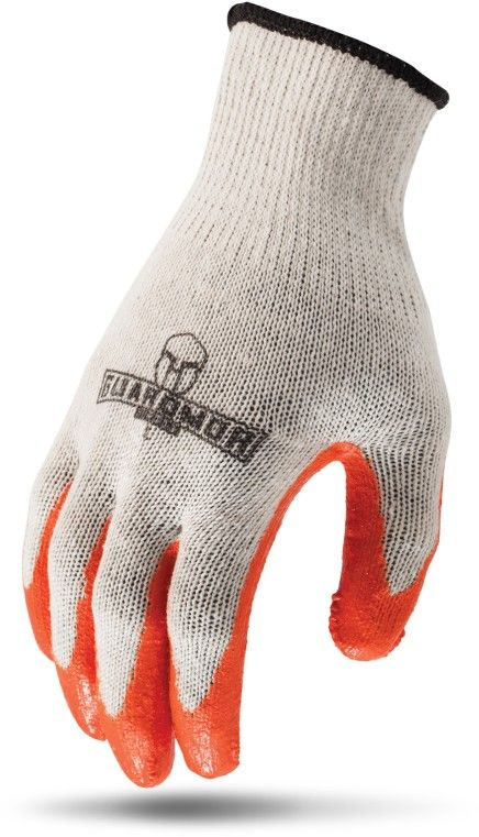 LIFTSAFETY G15MCL-WL LATEX PALM WHITE MIXED FIBER KNIT GLOVE WITH LATEX PALM - LRG