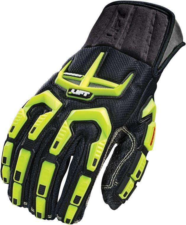 X-Large Black Gloves - Workman, Fiber Palm