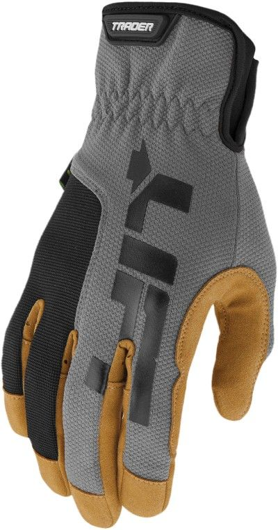 TRADER GLOVE (GREY)- SLIP ON/OFF CUFF