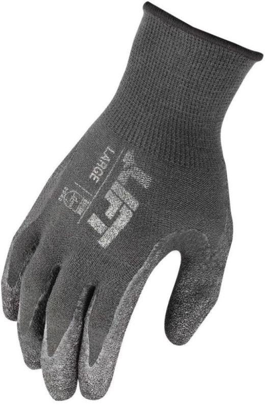 Large Black Gloves - Workman, Latex Palm / Crinkled