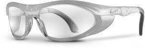 Flanker Adjustable Temple Safety Glasses, Smoke Lens Tint