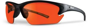 Amber Lens Safety Glasses - Black Frame