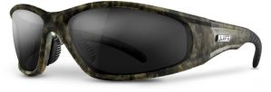 Smoke Lens Safety Glasses - Camo Frame