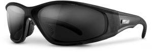 Smoke Lens Safety Glasses - Black Frame