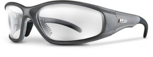 Clear Lens Safety Glasses - Silver Frame